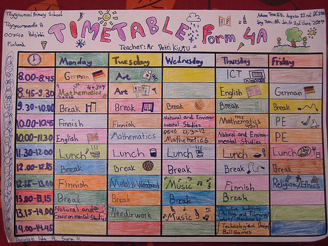 School timetable - Wikipedia